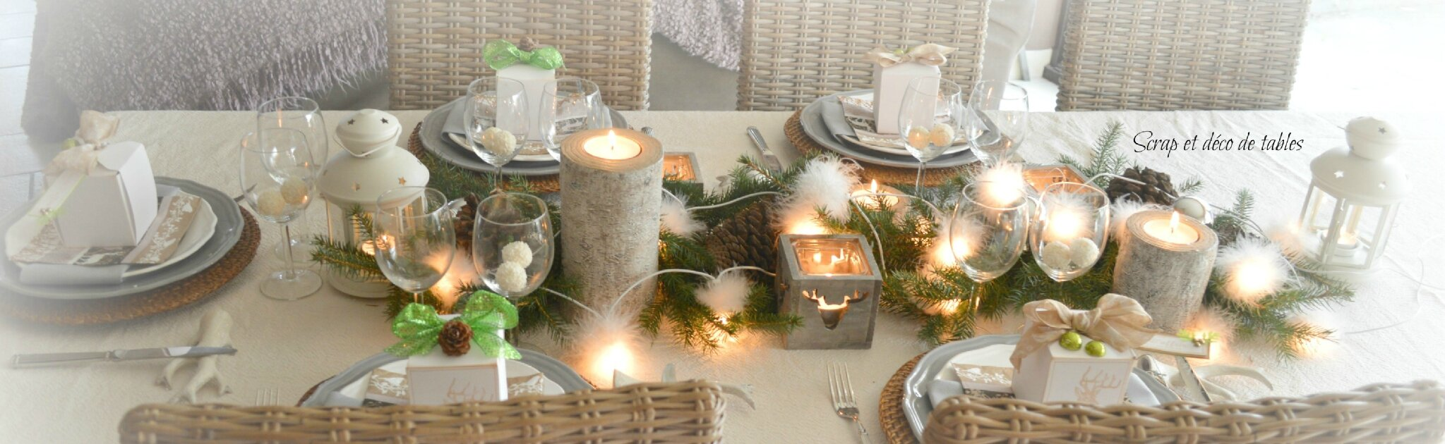 Deco noel nature - Decoration pour table de noel ...