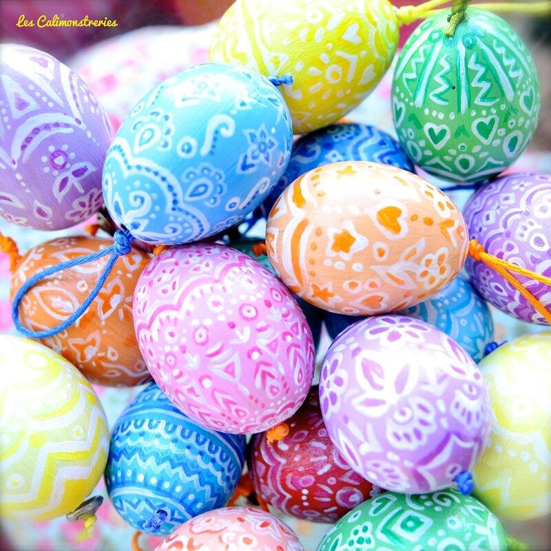 Oeufs et arbre de Pâques