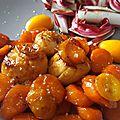 Saint-jacques et passion pour votre repas de saint-valentin