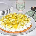 Gâteau coco, ananas, pistache et gingembre {l'exotisme frappe à notre porte}