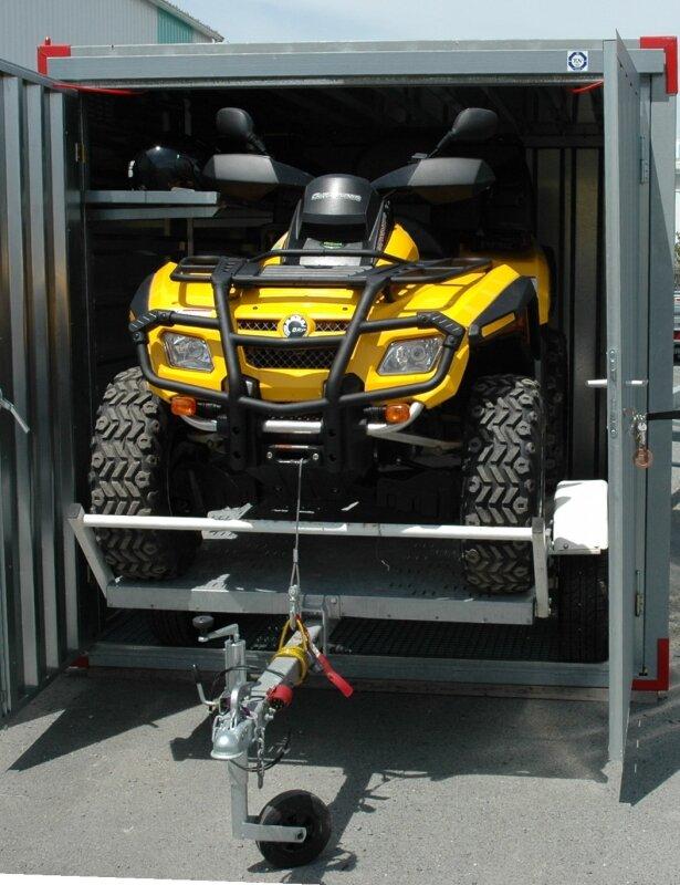 Garage quad can am 800 xtmax avec remorque 4 m 2 photo for Location de box garage