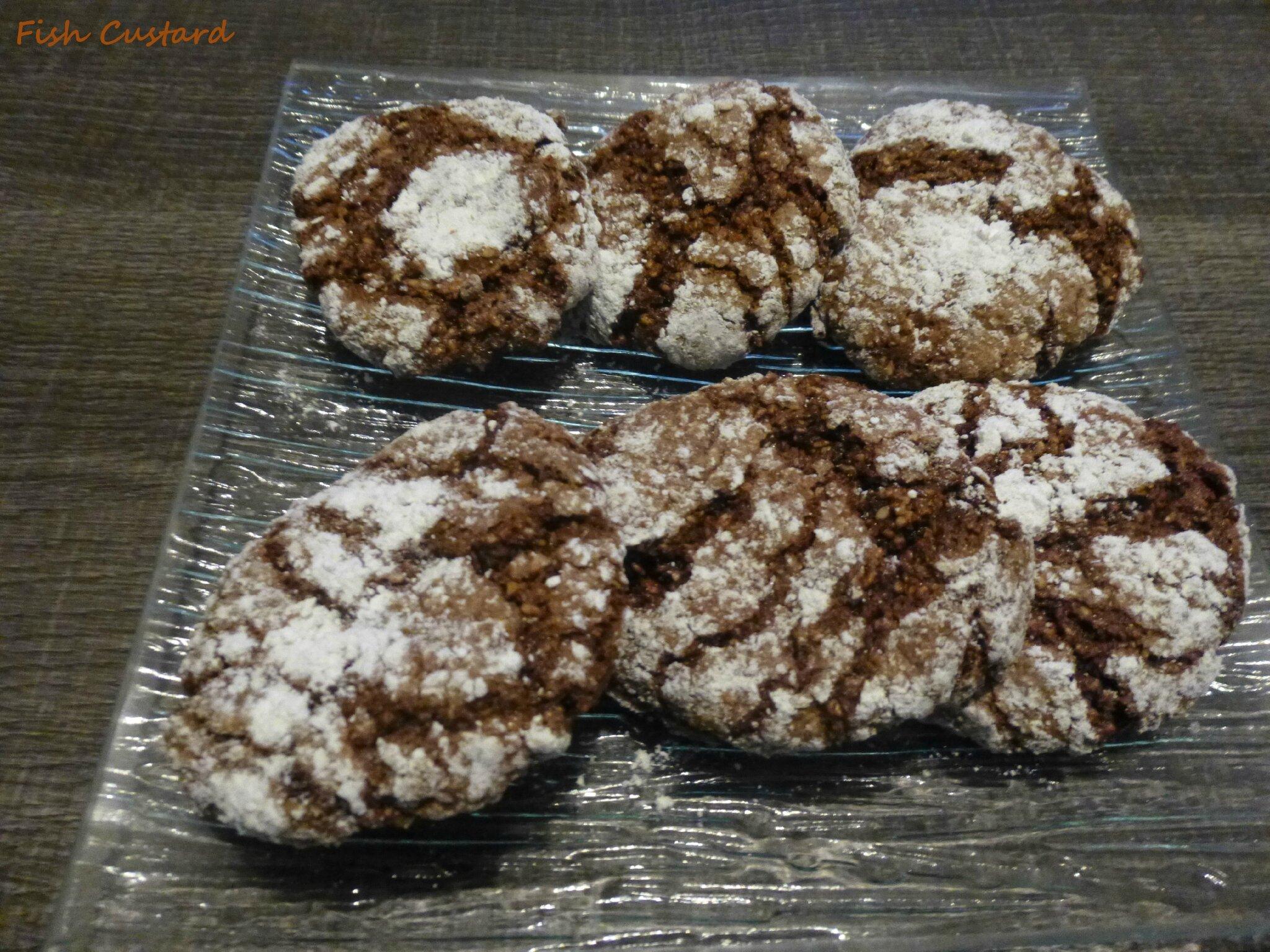 Ghriba au sésame et cacao