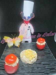 Tomates farcies froide Thon,oeuf mayonnaise19