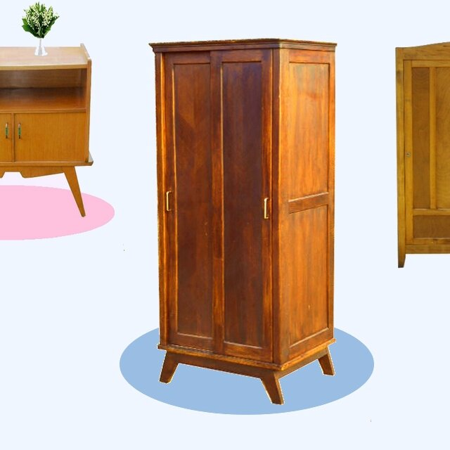 penderie dressing vintage annees 50 vendu meubles d co vintage design scandinave. Black Bedroom Furniture Sets. Home Design Ideas