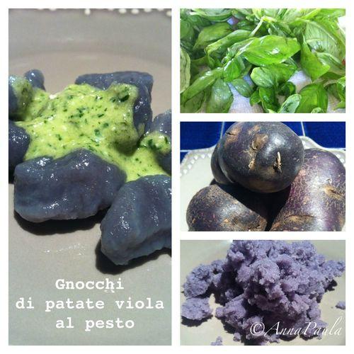 Gnocchi avec pommes de terre violettes