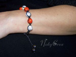 Shamballa orange et noir
