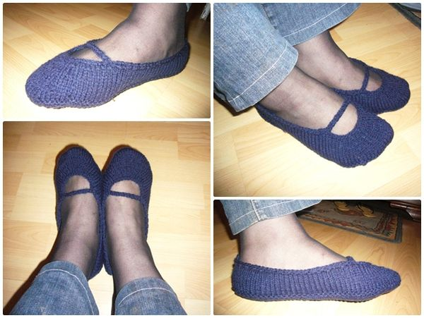 chaussons tricot