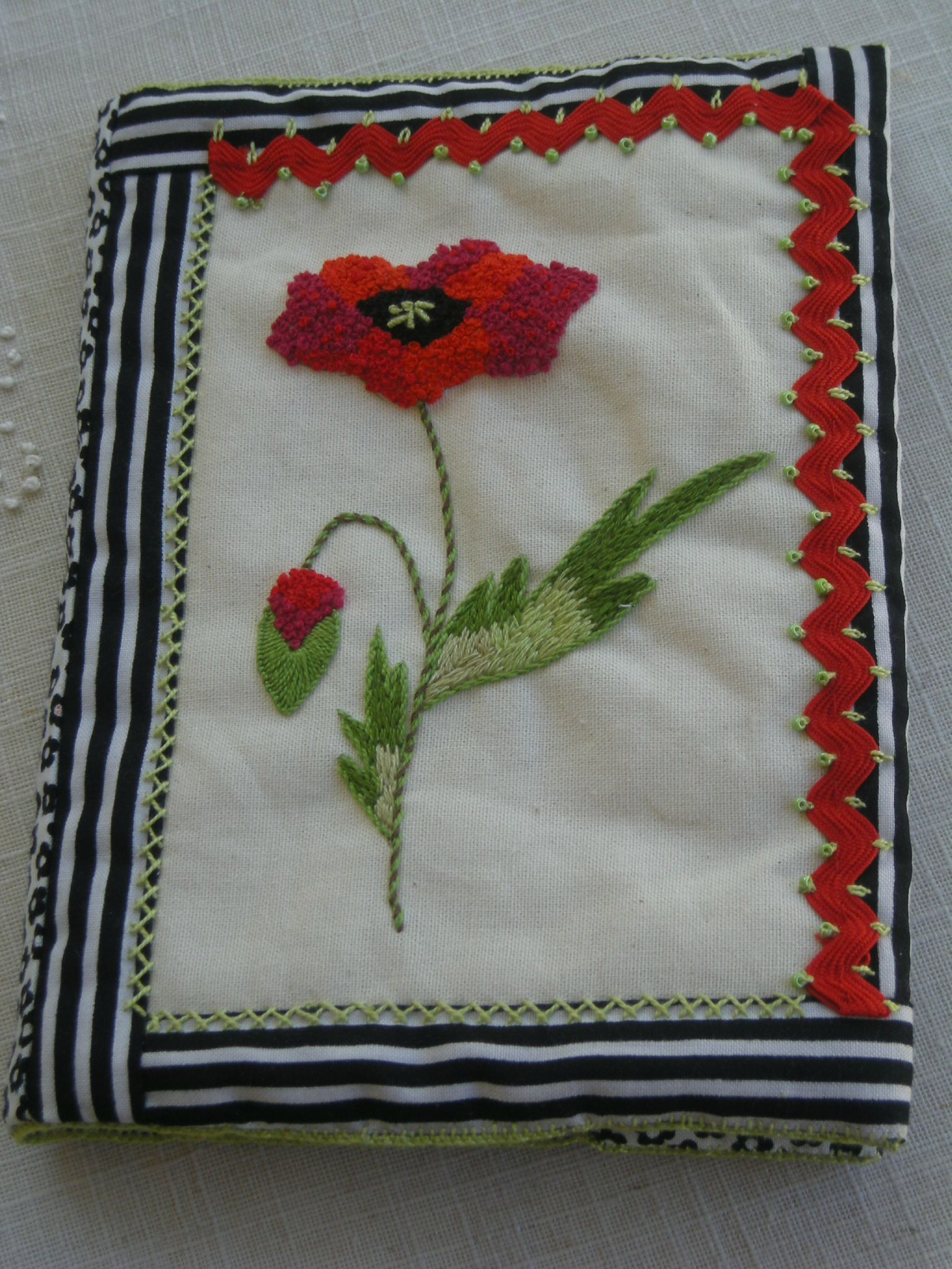 protège-cahier coquelicot