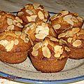 Muffins au miel et aux amandes