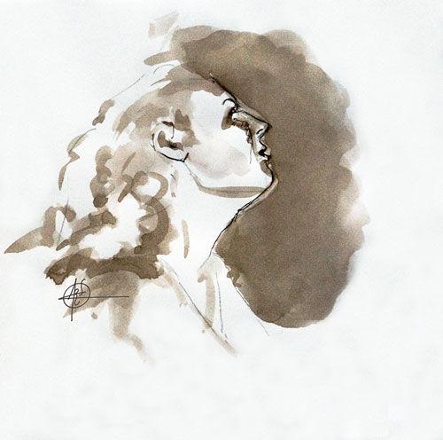 Croquis portrait féminin