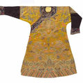 Dragon robe, informal robe & silk velvet vest, Qianlong Period, Qing Dynasty & 19th century