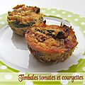 Timbales tomates et courgettes