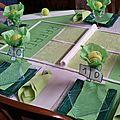 La table , le thème du tennis