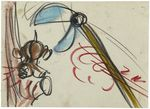 Donald Duck Out On a Limb Storyboard Drawing Animation Art 04