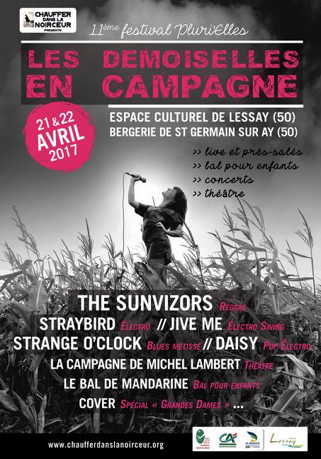 festival Les Demoiselles en campagne - Lessay - vendredi 21 & samedi 22 avril 2017 • jeu-concours : 5 places à gagner