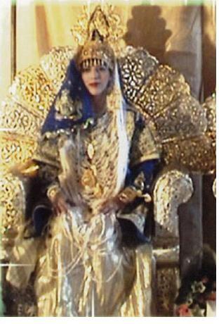 Chedda tlemcenia bleu roi et doré