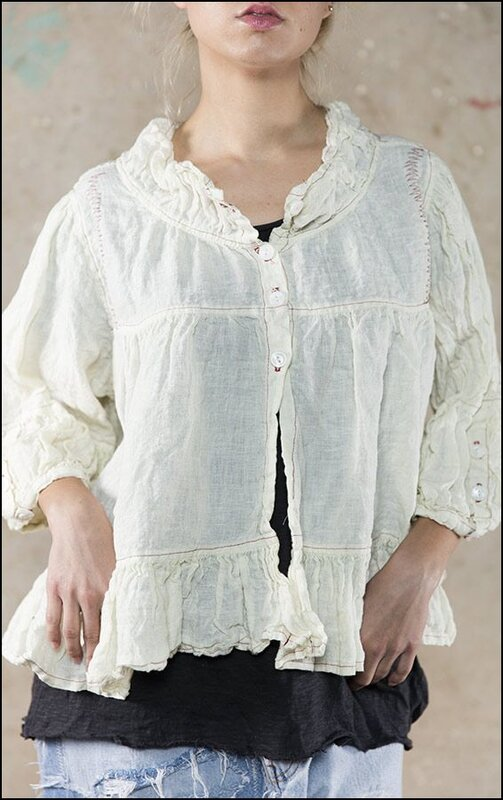 Luxie Jacket with Ruffle 168 Antique White .01.jpg