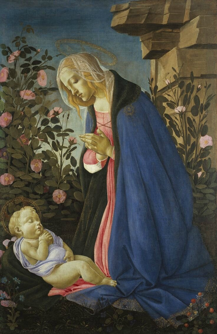 SANDRO BOTTICELLI, The Virgin Adoring the Sleeping Christ Child, about 1490