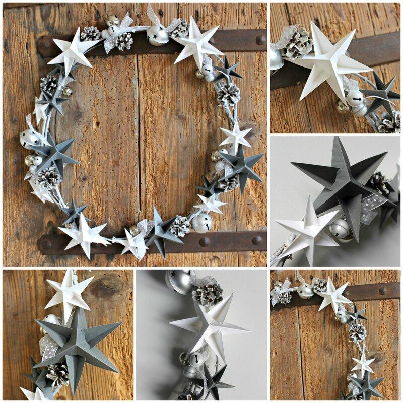 Collage couronne étoiles