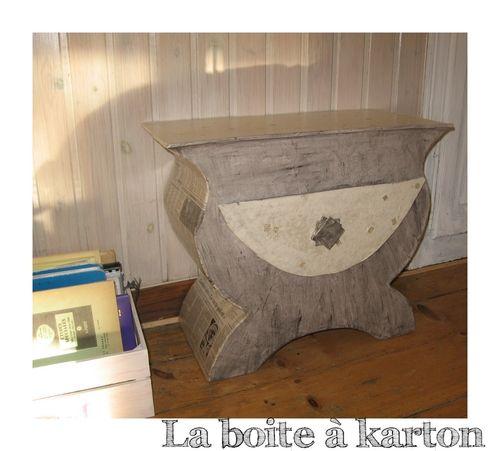 meubles en karton sur mesure. Black Bedroom Furniture Sets. Home Design Ideas