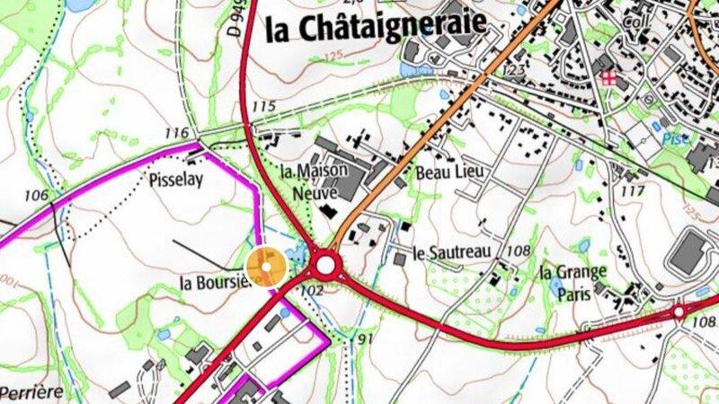 Antigny la Boursière carte