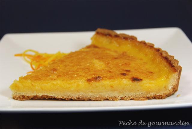 Tarte aux citrons et oranges p ch de gourmandise - Recette tarte au citron sans meringue ...