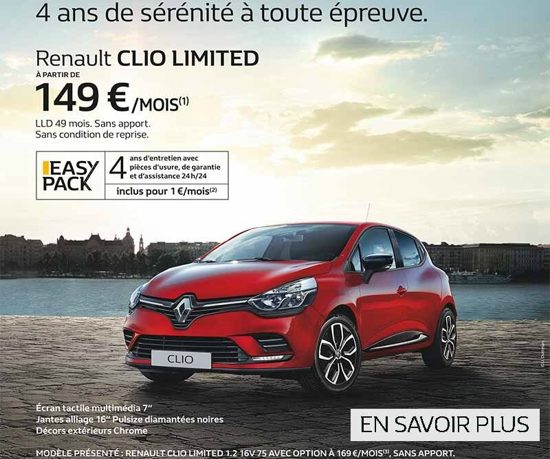 RENAULT DU 12 AU 16 OCTOBRE 2017 CLIO EASY 3