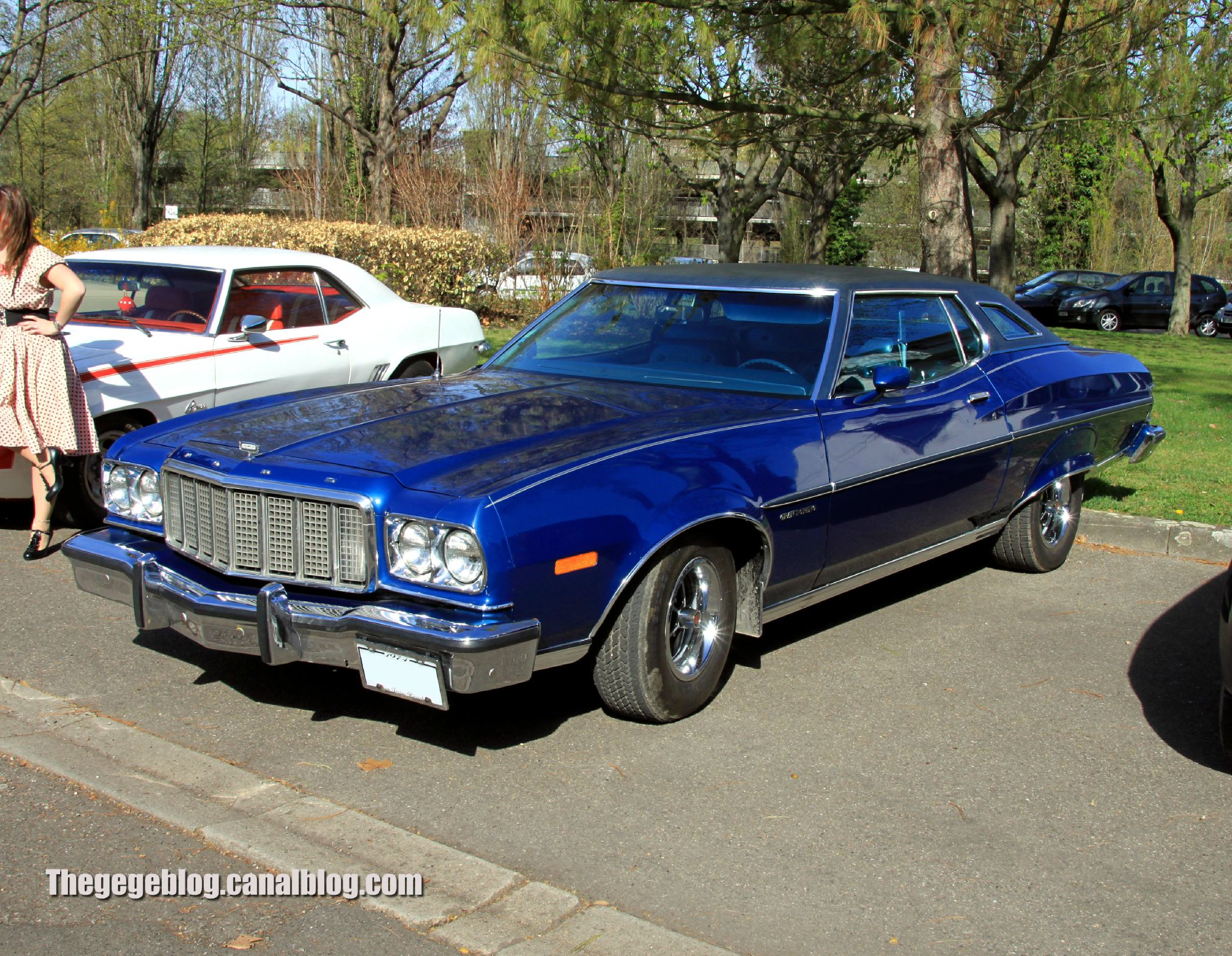 la ford gran torino hardtop coupe 1974 retrorencard avril 2012 the g g blog. Black Bedroom Furniture Sets. Home Design Ideas