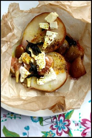 PAPILLOTE POIRES FIGUES