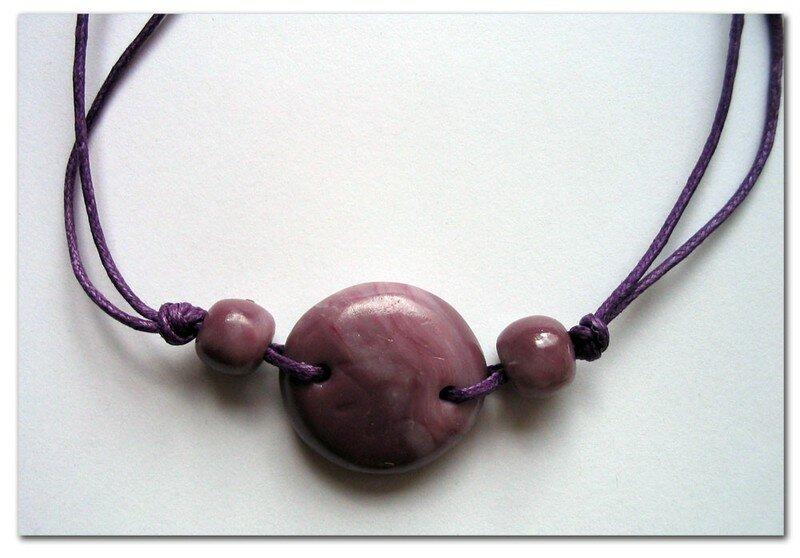 ze Bracelet galet violet