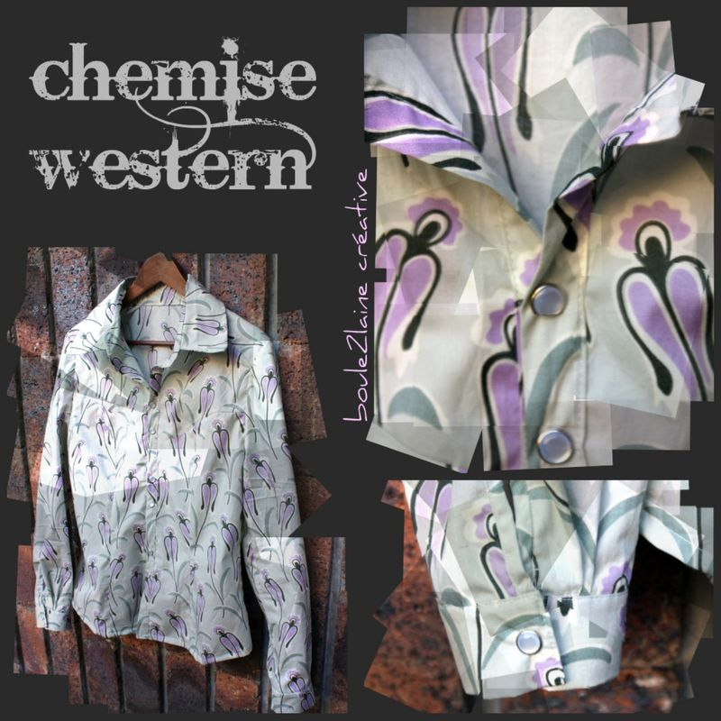 patron couture chemise western
