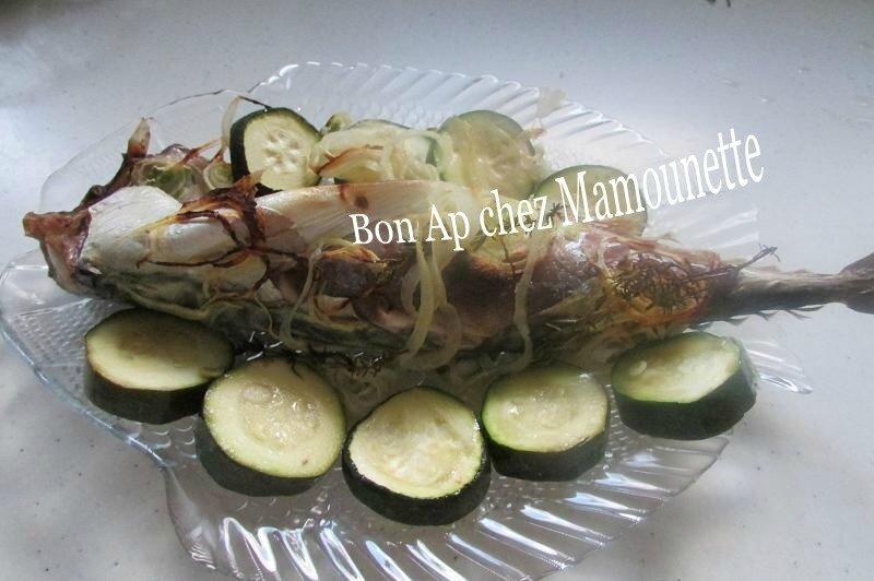 maquereau vin blanc courgette oignon saumon cocos plats 007