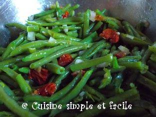 Salade de haricots verts et tomates s ch es cuisine simple et facile - Salade de tomates simple ...