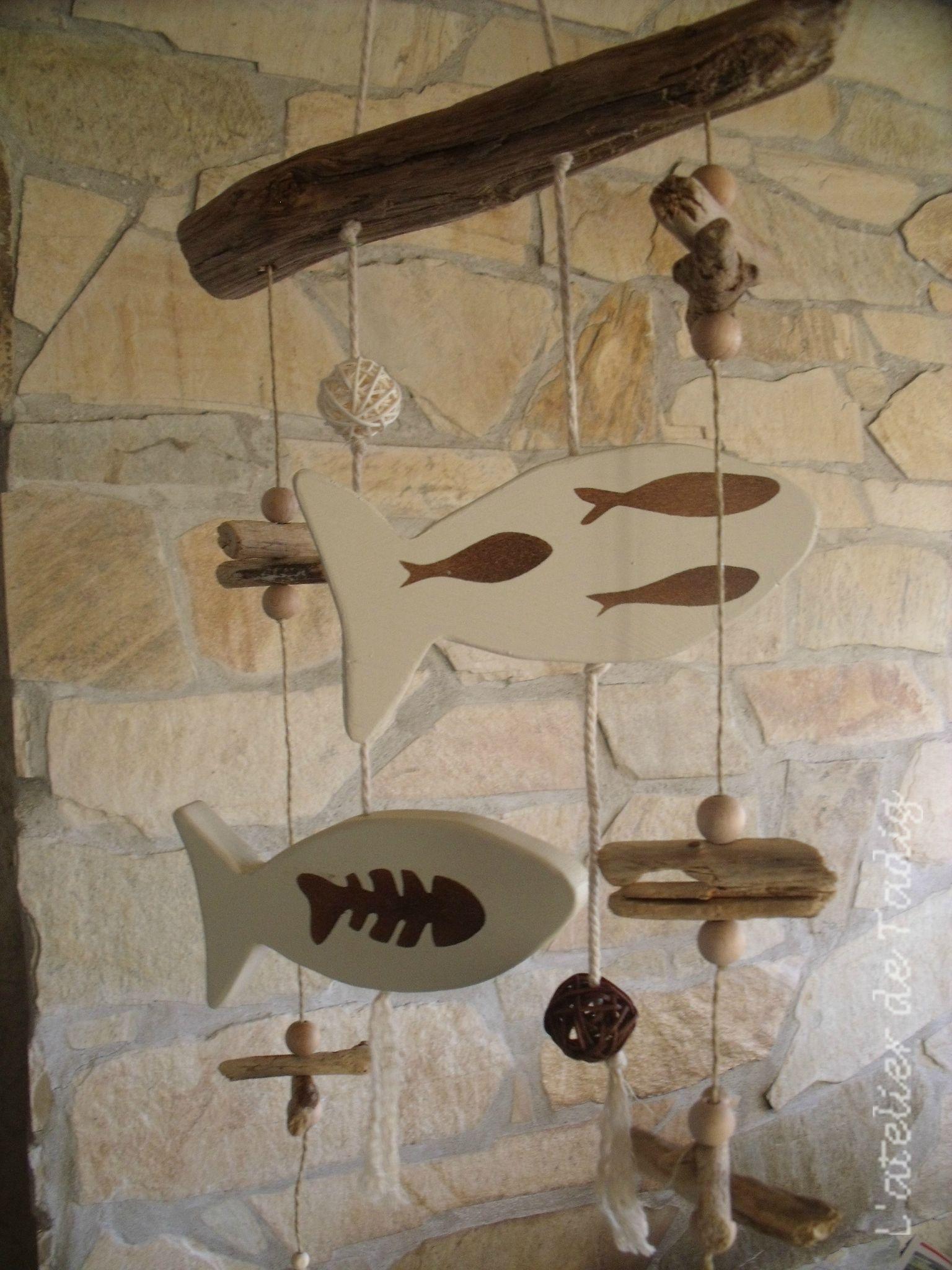 Poissons tous les messages sur poissons l 39 atelier de tadig for Objets de decoration en bois flotte