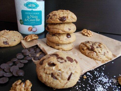 Toque de choc avec les cookies au beurre de coco, Chocolat et Noix