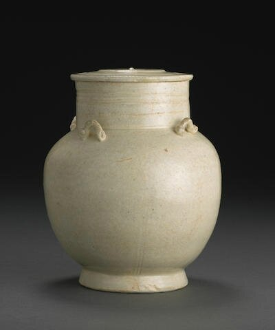 A qingbai glazed jar and cover, Northern Song dynasty