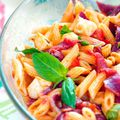 Penne en salade [Coppa-Mozza-Basilic]