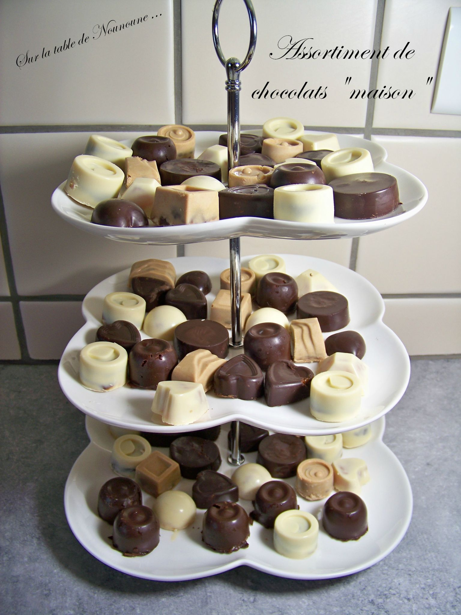 "Assortiment de chocolats ""maison"""