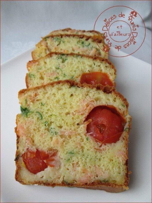cake saumon fumé - tomates cerises 2