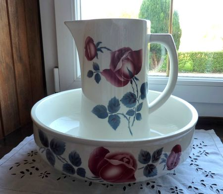 Boutique brocante Paimpol - ensemble toilette Digoin