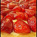 Tarte aux fraises (pâte sablée)
