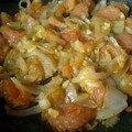 Omelette tomate - oignon