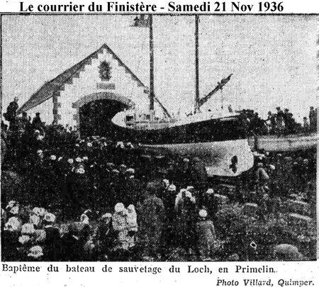 CH14 -5- Presse le courrier du Finistère - Inauguration du Bateau de sauvetage CV de Kerros