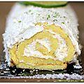 Bûche roulée au citron vert et à l'ananas
