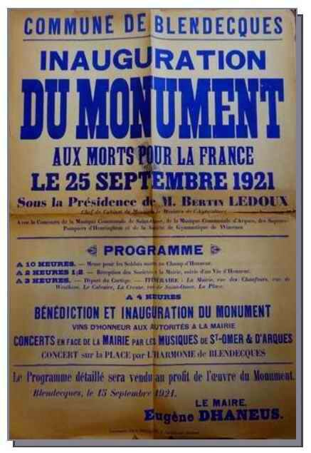 Inauguration monument aux morts89