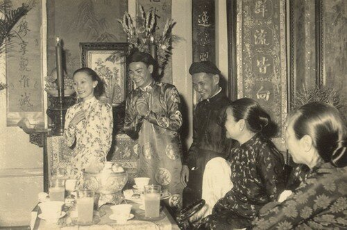 Mariage de mes parents dans la maison du culte de la famille Truong