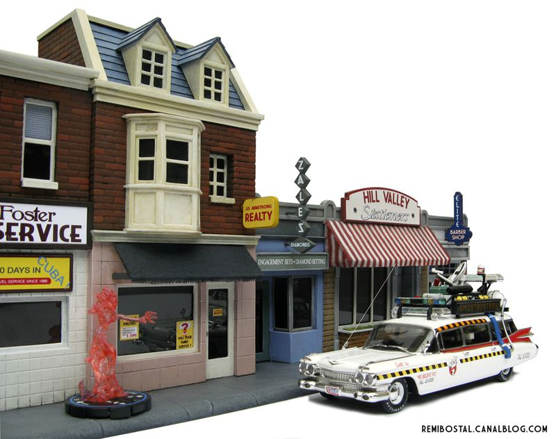 Hill Valley main street back to the future bttf heroclix remi bostal scenery miniature (4)