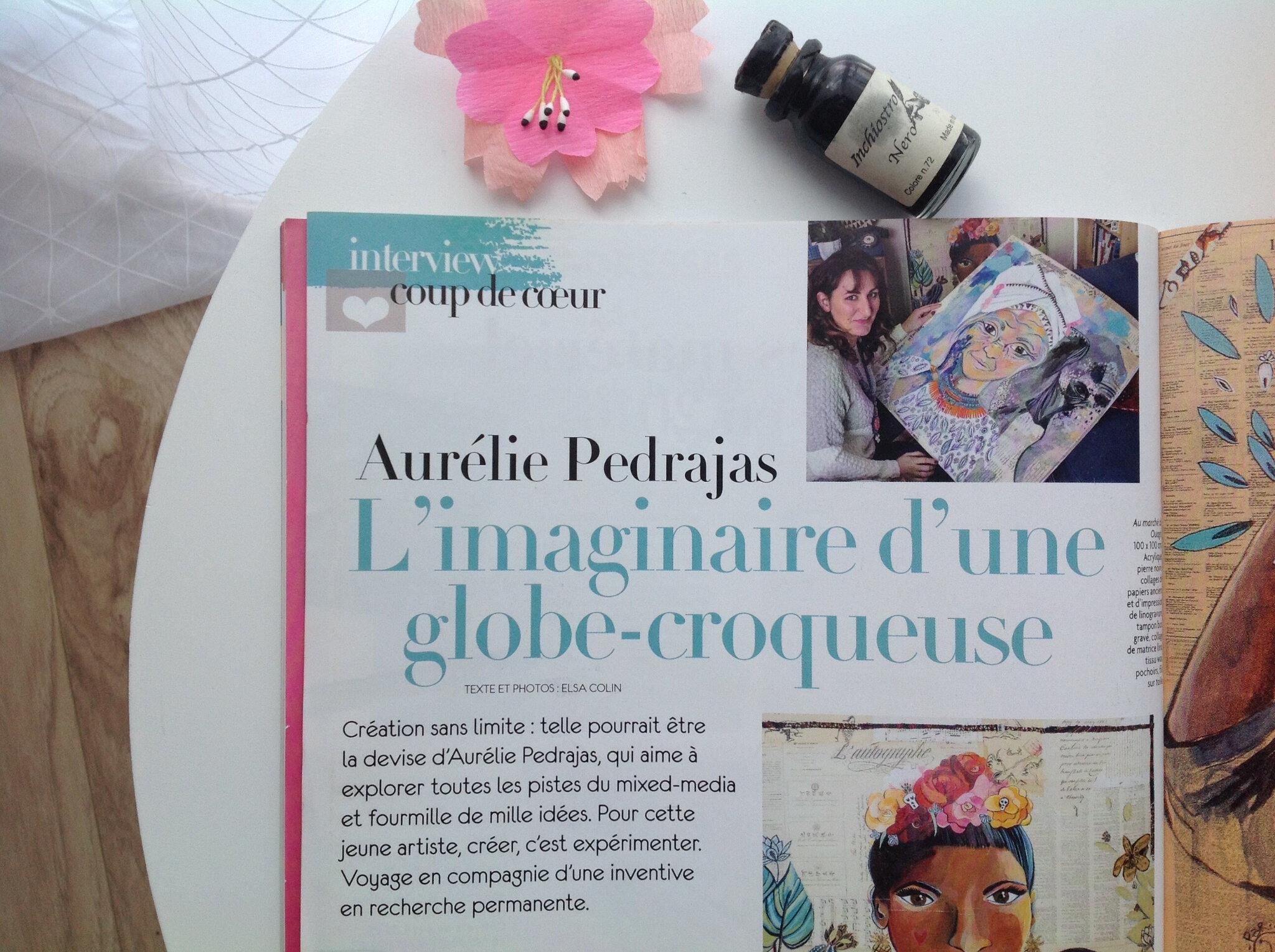 Interview coup de coeur dans Plaisirs de peindre n°60