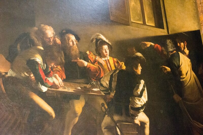 La vocation de Saint Matthieu du Caravage