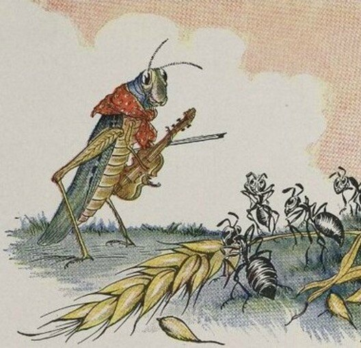 The Ant and the Grasshopper from Aesop s Fables